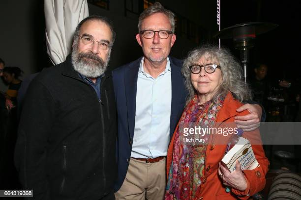 Actor Mandy Patinkin executive producer/cocreator/showrunner Alex Gansa and actress Kathryn Grody attend the ATAS Emmy screening of Showtime's...