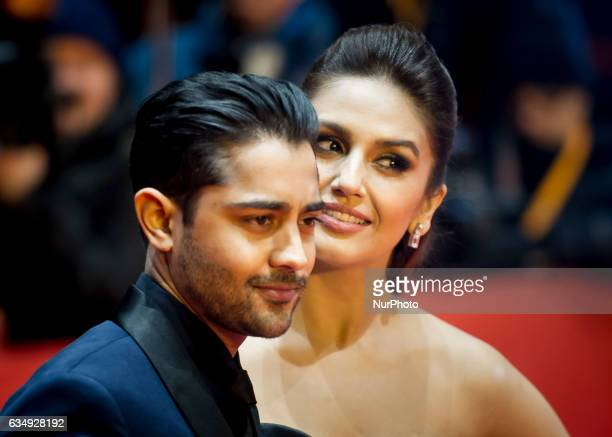 Actor Manish Dayal and Huma Qureshi attends the Viceroys House photocall during the 67th Berlinale International Film Festival Berlin at Grand Hyatt...