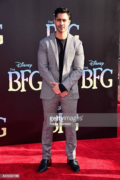 Actor Manish Dayal attends Disney's The BFG premiere at the El Capitan Theatre on June 21 2016 in Hollywood California