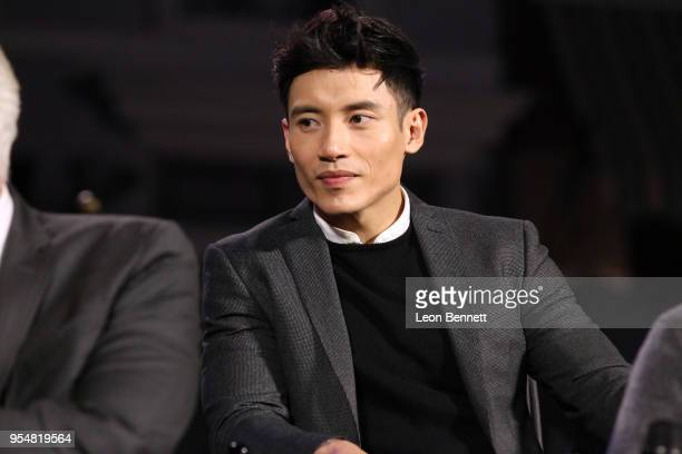 Actor Manny Jacinto attends NBC's The Good Place FYC Screening And QA at Universal Studios Backlot on May 4 2018 in Universal City California