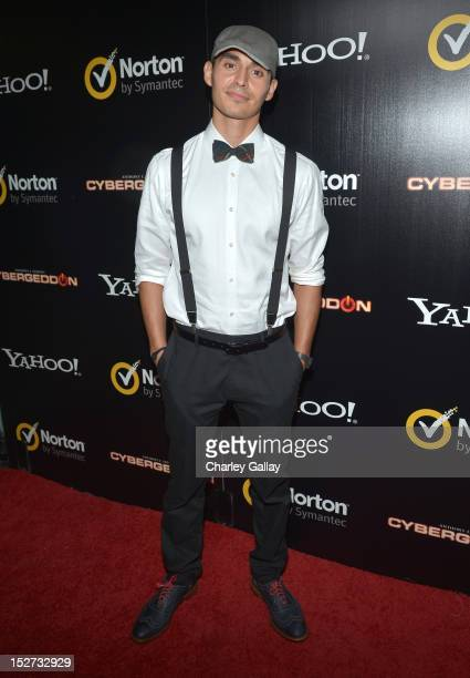 Actor Manny Montana attends the Cybergeddon Premiere at Pacific Design Center on September 24 2012 in West Hollywood California