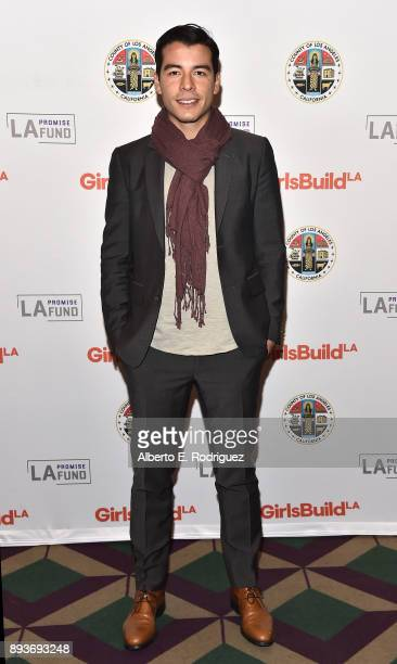 Actor Manolo GonzalezRipoll Vergara attends the LA Promise Fund's 'Girls Build Leadership Summit' at The Los Angeles Convention Center on December 15...