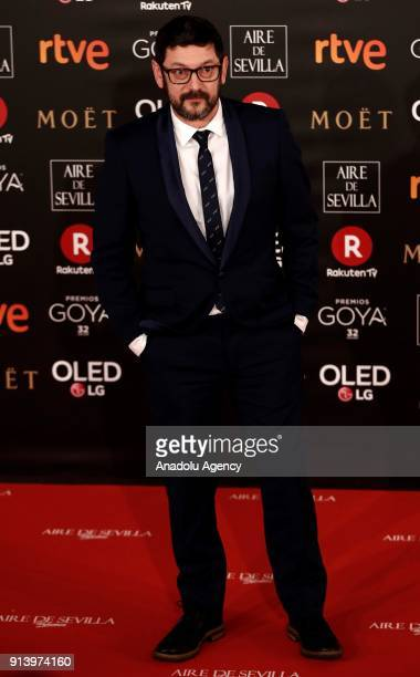 Actor Manolo Solo attends the 32th edition of the Goya Awards ceremony in Madrid Spain on February 04 2018