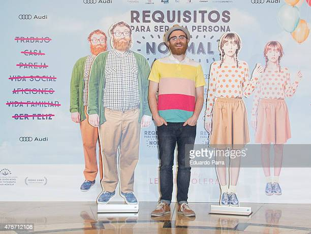 Actor Manuel Burque attends the photocall for the movie 'Requisitos para ser una persona normal' at Palafox cinema on June 3 2015 in Madrid Spain