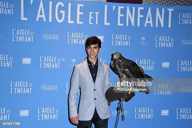 Actor Manuel Camacho attends the L'Aigle et l'enfant Paris premiere at Gaumont Capucines on June 19 2016 in Paris France