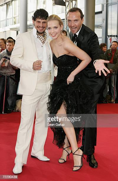 Actor Manuel Cortez actress LaraIsabelle Rentinck and actor Hubertus Regout attend the German Television Awards at the Coloneum October 20 2006 in...