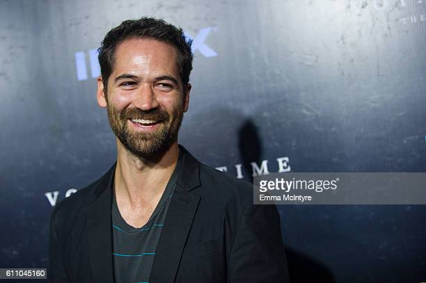 Actor Manuel GarciaRulfo attends the premiere of IMAX's 'Voyage Of Time The IMAX Experience' at California Science Center on September 28 2016 in Los...