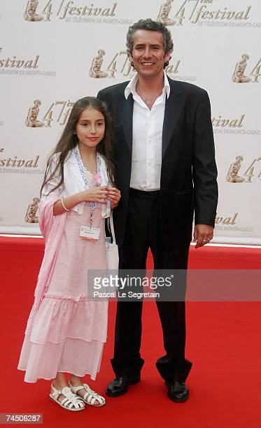 Actor Manuel Gelin and daughter attend the opening night of the 2007 Monte Carlo Television Festival held at Grimaldi Forum on June 10 2007 in Monaco