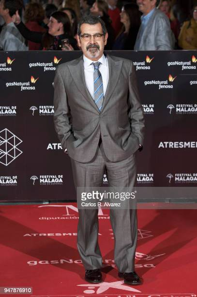 Actor Manuel Moron attends 'Las Distancias' premiere during the 21th Malaga Film Festival at the Cervantes Theater on April 17 2018 in Malaga Spain