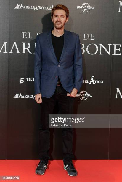 Actor Manuel Velasco attends the 'El secreto de Marrowbone' photocall at Capitol cinema on October 24 2017 in Madrid Spain