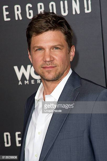 Actor Marc Blucas arives for the Premiere Of WGN America's 'Underground' held at The Theatre At The Ace Hotel on March 2 2016 in Los Angeles...