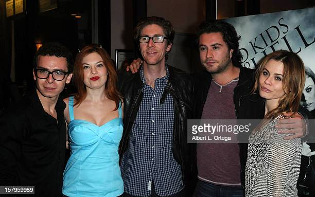 Actor Marc Donato actress Amand Alch director Matthew Spradlin actor Kevin Ryan and actress Augie Duke arrive for the Screening Of Bad Kids Go To...