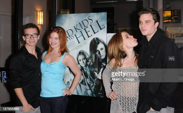Actor Marc Donato actress Amanda Alch actress Augie Duke and actor Cameron Deane Stewart arrive for the Screening Of Bad Kids Go To Hell held at...