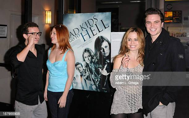 """Actor Marc Donato, actress Amanda Alch, actress Augie Duke and actor Cameron Deane Stewart arrive for the Screening Of """"Bad Kids Go To Hell"""" held at..."""