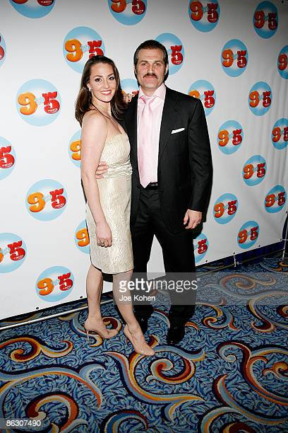 Actor Marc Kudisch and guest attend the 9 to 5 The Musical Broadway opening night party at the Marriott Marquis on April 30 2009 in New York City