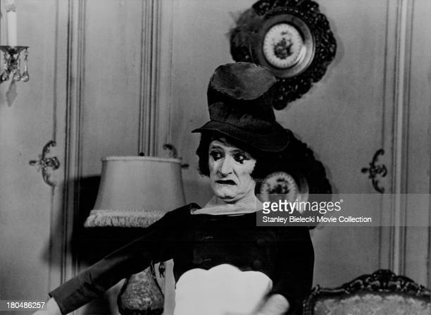 Actor Marcel Marceau, in scene from the movie 'Silent Movie', 1976.