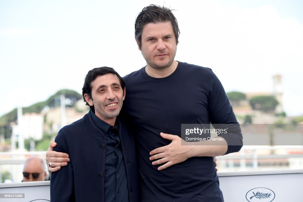 Actor Marcello Fonte (L) and actor Edoardo Pesce attend 'Dogman' Photocall during the 71st annual Cannes Film Festival at Palais des Festivals on May 17, 2018 in Cannes, France.
