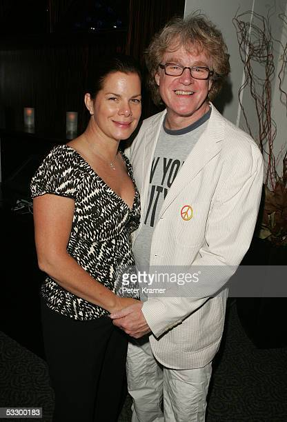 Actor Marcia Gay Harden and Director Don Scardino attend an evening with the cast of Lennon hosted by The Creative Coalition on July 28 2005 in New...