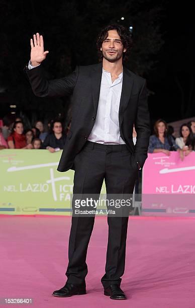 Actor Marco Bocci attends K2 La Montagna degli Italiani Premiere during the 2012 RomaFictionFest at Auditorium Parco della Musica on October 2 2012...