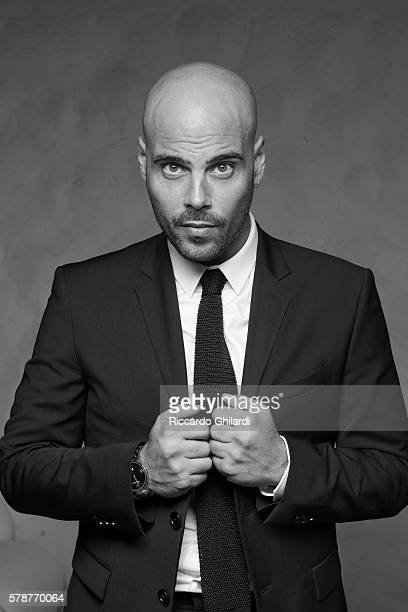 Actor Marco D'Amore is photographed for for Self Assignment on July 2, 2016 in Taormina, Italy.