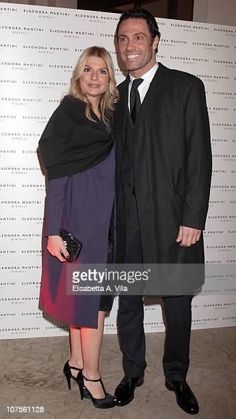 Actor Marco Falaguasta and wife Alessia Latino attends the Eleonora Mantini Jewellery Collection Launch at De Russie Hotel on December 13 2010 in...