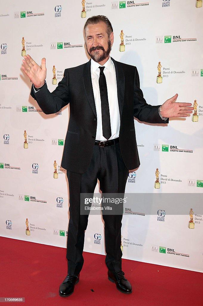 Actor Marco Giallini attends 2013 Premi David di Donatello Ceremony Awards at Dear RAI Studios on June 14, 2013 in Rome, Italy.