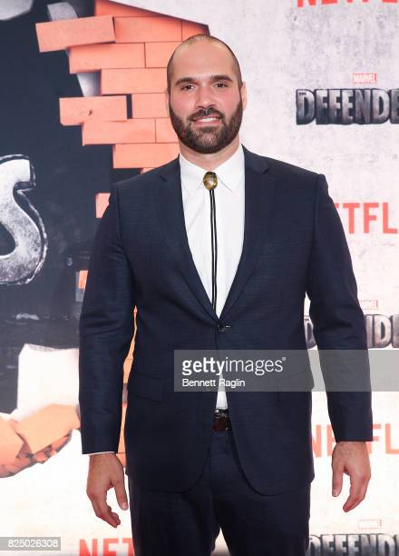 Actor Marco Ramirez attends the Marvel's The Defenders New York premiere at Tribeca Performing Arts Center on July 31 2017 in New York City