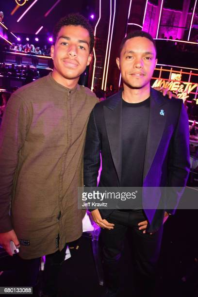 Actor Marcus Scribner and comedian Trevor Noah attend the 2017 MTV Movie And TV Awards at The Shrine Auditorium on May 7 2017 in Los Angeles...