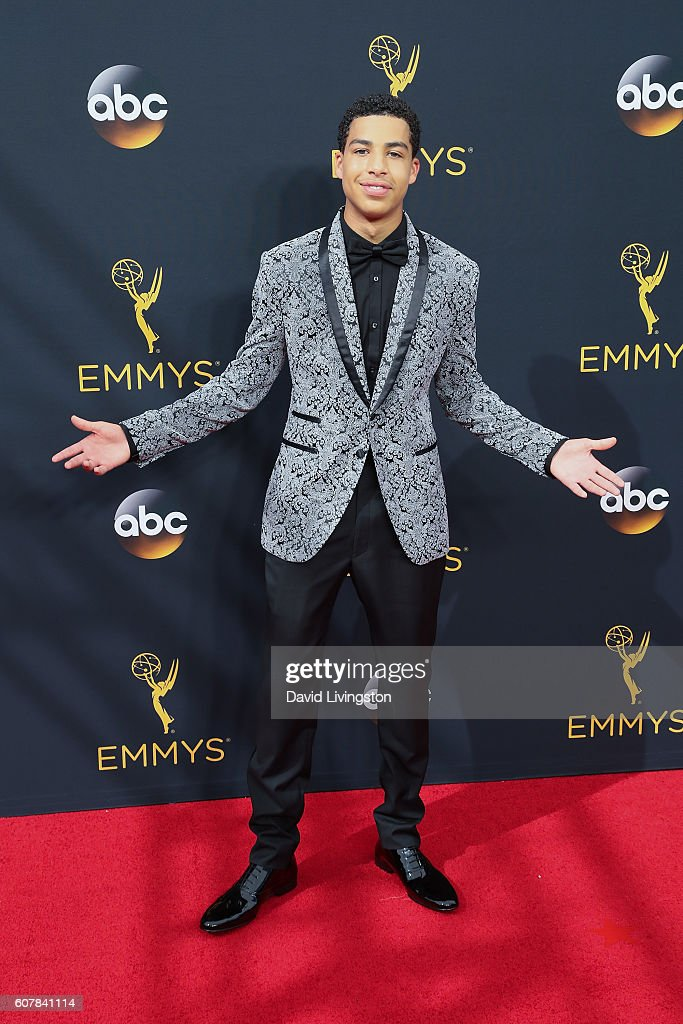 Actor Marcus Scribner arrives at the 68th Annual Primetime Emmy Awards at the Microsoft Theater on September 18, 2016 in Los Angeles, California.
