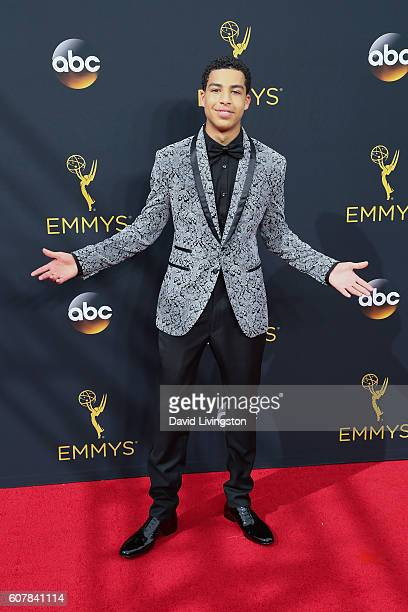 Actor Marcus Scribner arrives at the 68th Annual Primetime Emmy Awards at the Microsoft Theater on September 18 2016 in Los Angeles California