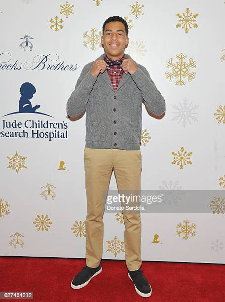 Actor Marcus Scribner attends Brooks Brothers holiday celebration with St Jude Children's Research Hospital on December 3 2016 in Beverly Hills...