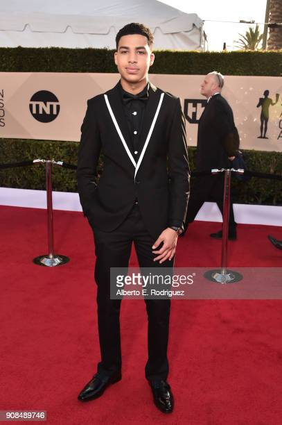 Actor Marcus Scribner attends the 24th Annual Screen Actors Guild Awards at The Shrine Auditorium on January 21 2018 in Los Angeles California...