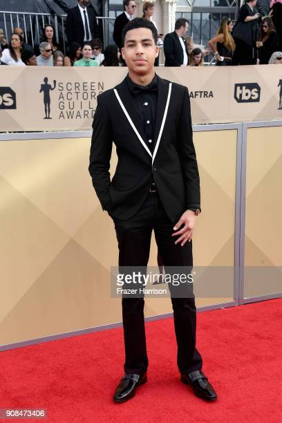 Actor Marcus Scribner attends the 24th Annual Screen ActorsGuild Awards at The Shrine Auditorium on January 21 2018 in Los Angeles California