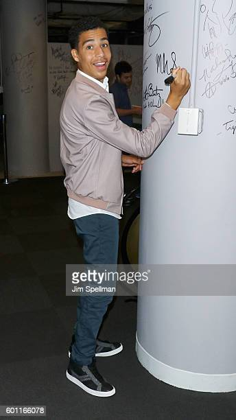 Actor Marcus Scribner attends The BUILD Series Presents Marcus Scribner discussing his role in 'blackish' at AOL HQ on September 9 2016 in New York...