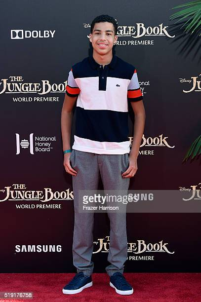 Actor Marcus Scribner attends the premiere of Disney's The Jungle Book at the El Capitan Theatre on April 4 2016 in Hollywood California