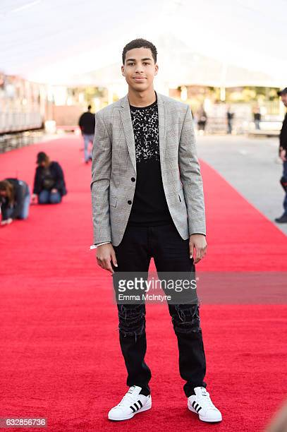 Actor Marcus Scribner attends the Red Carpet RollOut Ceremony BTS during The 23rd Annual Screen Actors Guild Awards at The Shrine Expo Hall on...