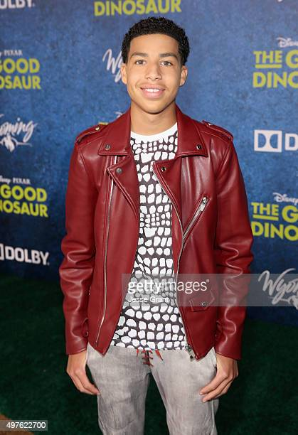 Actor Marcus Scribner attends the World Premiere Of Disney-Pixar's THE GOOD DINOSAUR at the El Capitan Theatre on November 17, 2015 in Hollywood,...