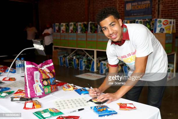 Actor Marcus Scribner joined FritoLay Variety Packs and Feed the Children in Los Angeles California on Wednesday August 7th to kick off its Snackable...