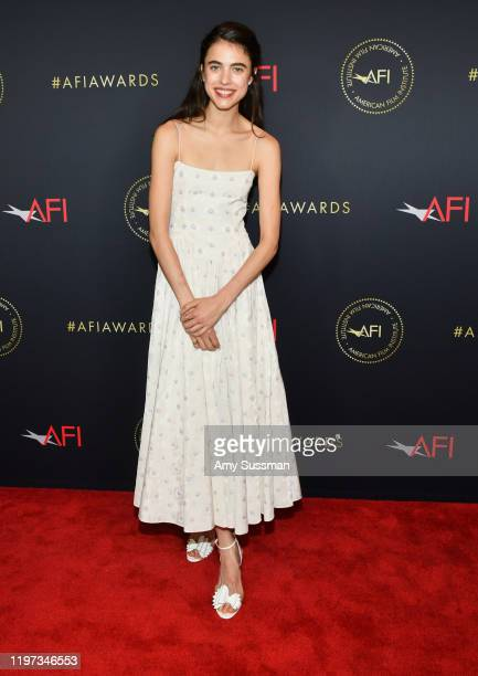 Actor Margaret Qualley attends the 20th Annual AFI Awards at Four Seasons Hotel Los Angeles at Beverly Hills on January 03 2020 in Los Angeles...