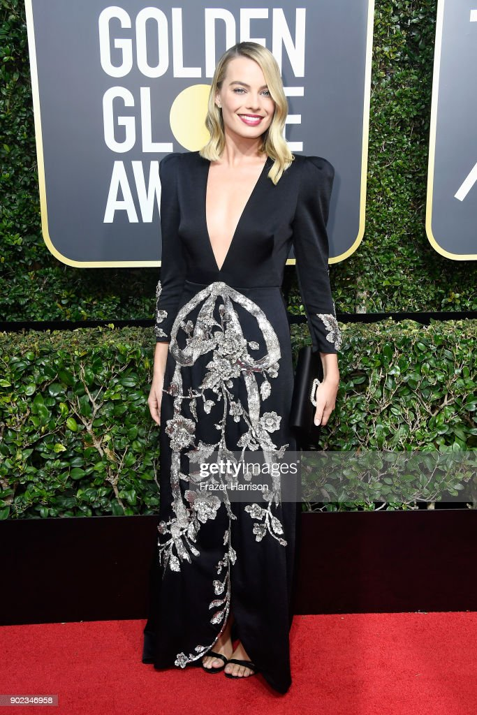Actor Margot Robbie attends The 75th Annual Golden Globe Awards at The Beverly Hilton Hotel on January 7, 2018 in Beverly Hills, California.