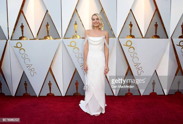 Actor Margot Robbie attends the 90th Annual Academy Awards at Hollywood Highland Center on March 4 2018 in Hollywood California