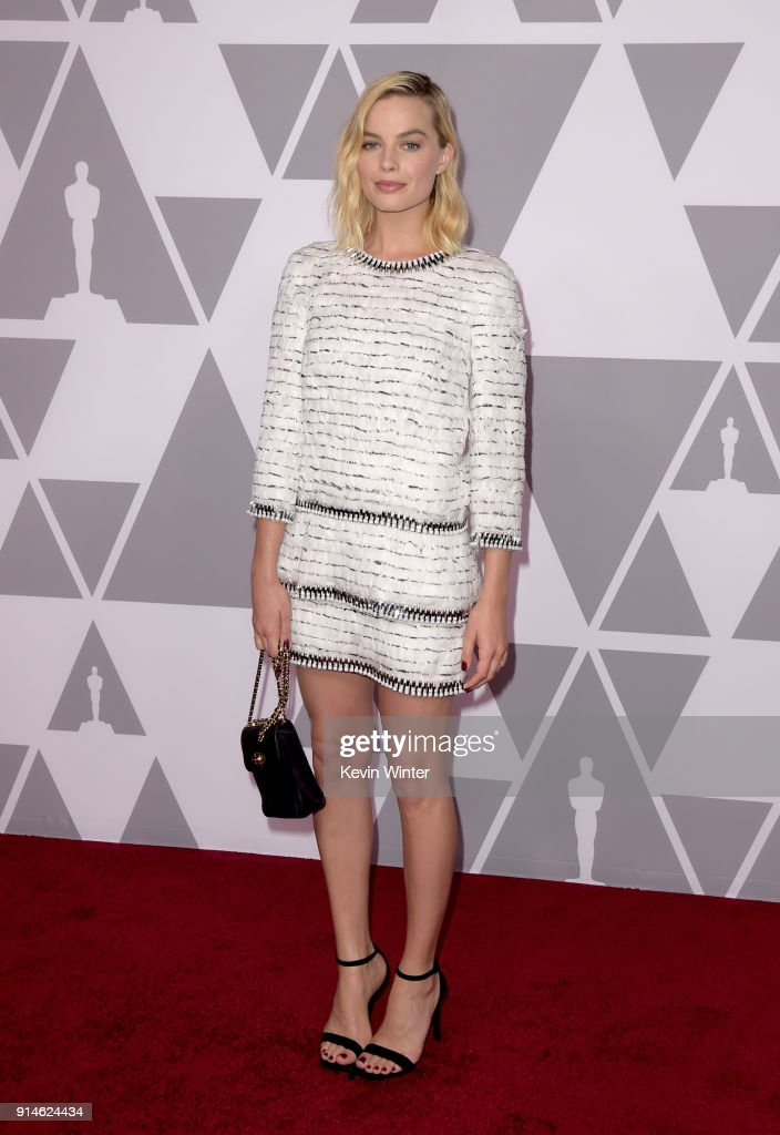 Actor Margot Robbie attends the 90th Annual Academy Awards Nominee Luncheon at The Beverly Hilton Hotel on February 5, 2018 in Beverly Hills, California.