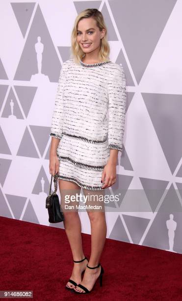 Actor Margot Robbie attends the 90th Annual Academy Awards Nominee Luncheon at The Beverly Hilton Hotel on February 5 2018 in Beverly Hills California