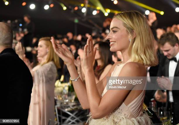 Actor Margot Robbie during the 24th Annual Screen Actors Guild Awards at The Shrine Auditorium on January 21 2018 in Los Angeles California 27522_007