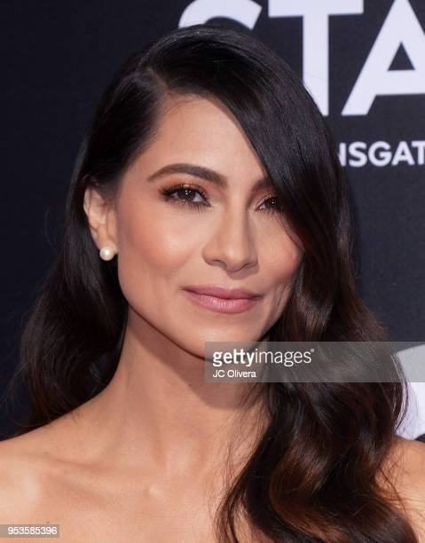 Actor Maria Elena Laas attends Starz 'Vida' premiere at Regal LA Live Stadium 14 on May 1 2018 in Los Angeles California