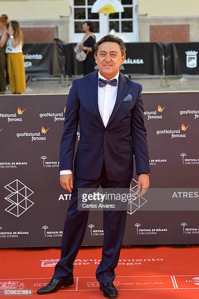 Actor Mariano Pena attends Nuestros Amantes premiere at the Cervantes Teather during the 19th Malaga Film Festival on April 30 2016 in Malaga Spain