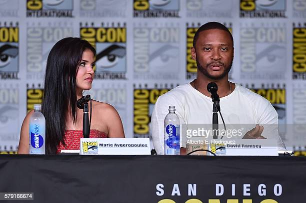 Actor Marie Avgeropoulos and Dave Ramsey attend TV Guide Magazine's Fan Favorites during Comic Con 2016 at San Diego Convention Center on July 22...