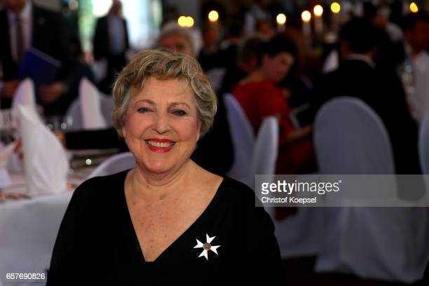Actor Marie Louise Marjan poses during the Steiger Award on at Coal Mine Hansemann Alte Kaue March 25 2017 in Dortmund Germany