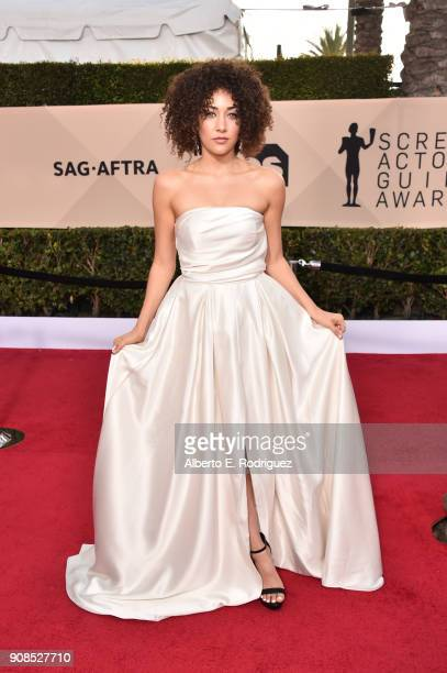 Actor Marielle Scott attends the 24th Annual Screen Actors Guild Awards at The Shrine Auditorium on January 21 2018 in Los Angeles California...