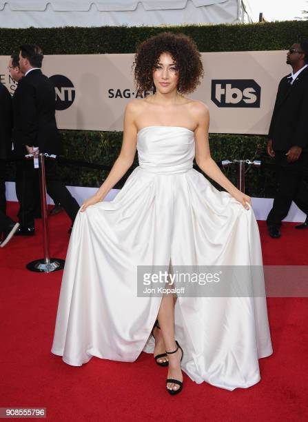 Actor Marielle Scott attends the 24th Annual Screen ActorsGuild Awards at The Shrine Auditorium on January 21 2018 in Los Angeles California